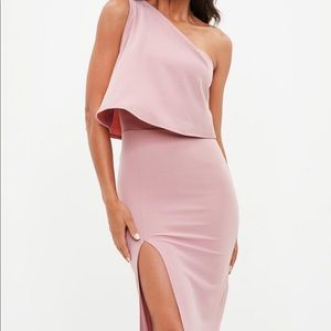 Misguided one shoulder midi dress NWT